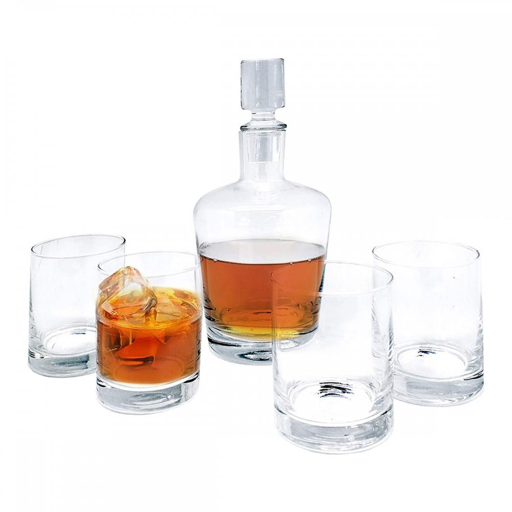 Набор для виски Vin Bouquet; графин и 4 стакана