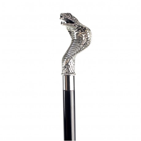 Зонт мужской черный «Кобра», Silver