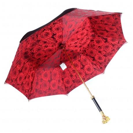Зонт женский красный «Роза», Gold