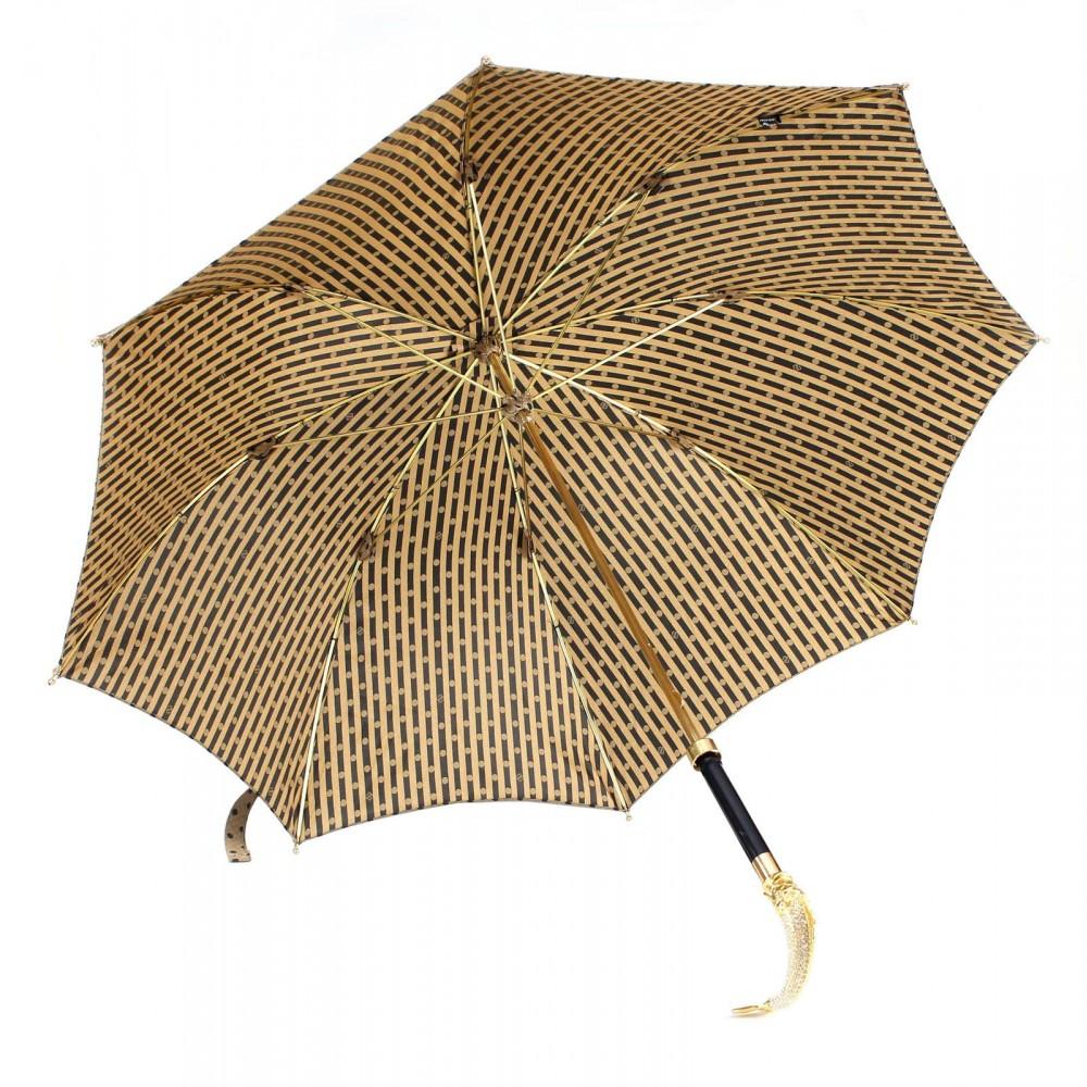 Зонт женский двойной «Рыба», Silver