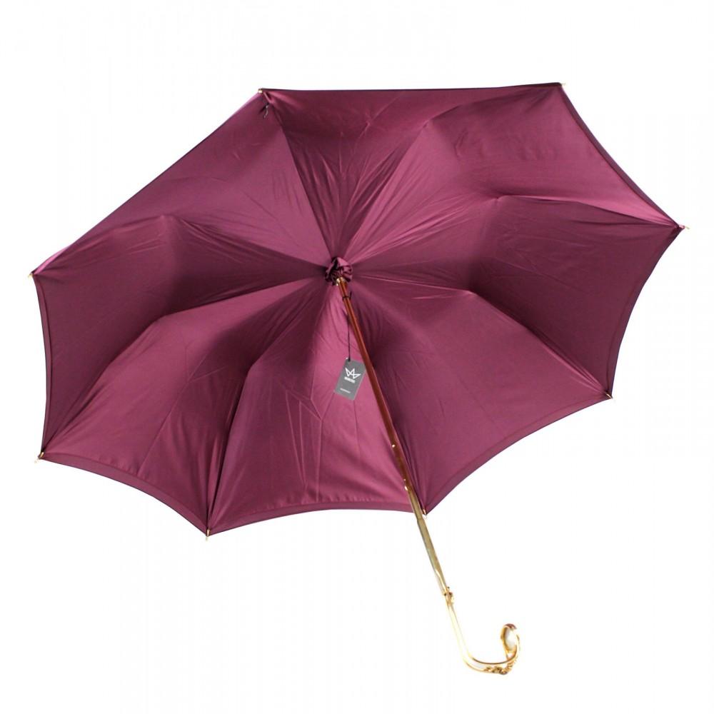 Зонт темно-красный женский