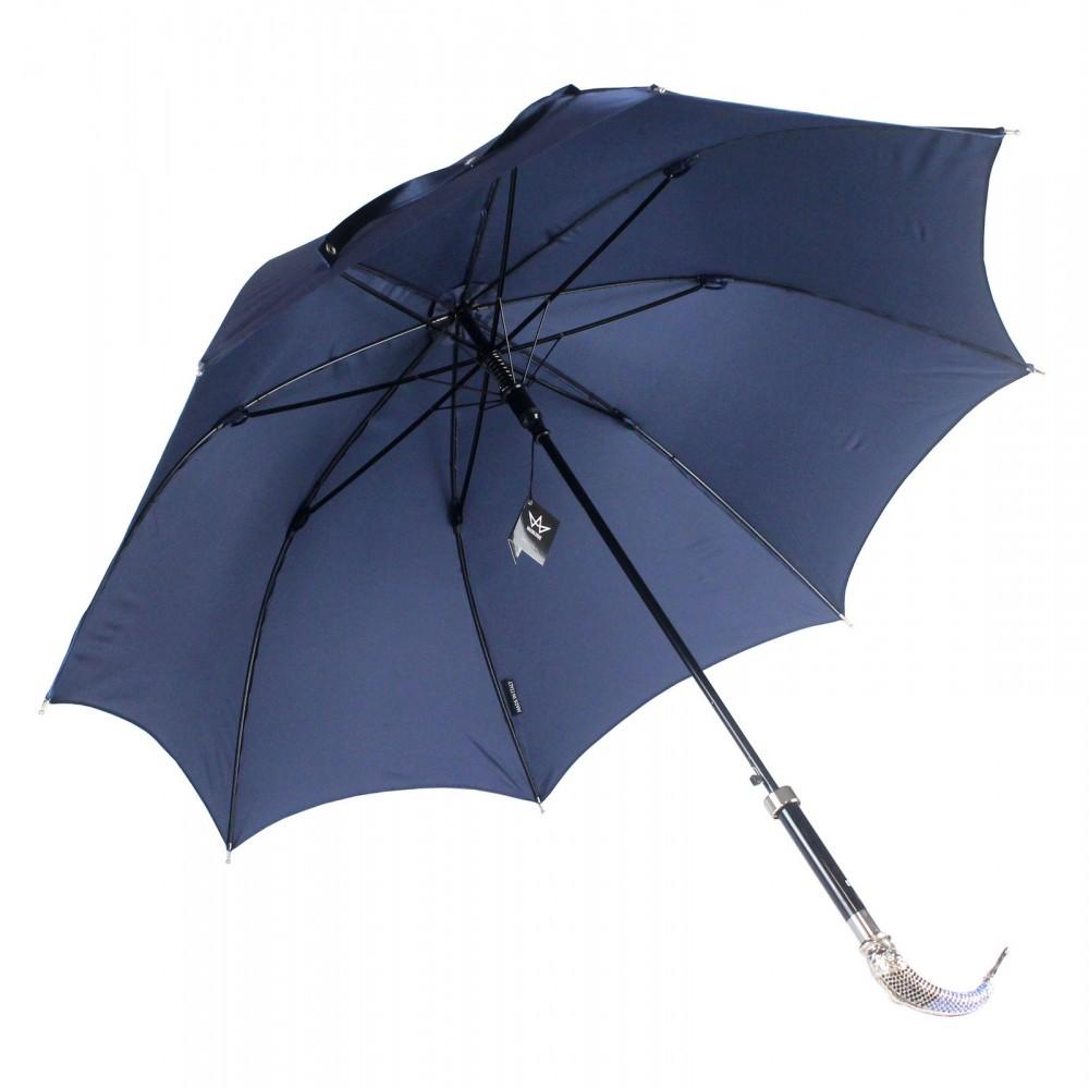 Зонт мужской двойной «Рыба», Silver