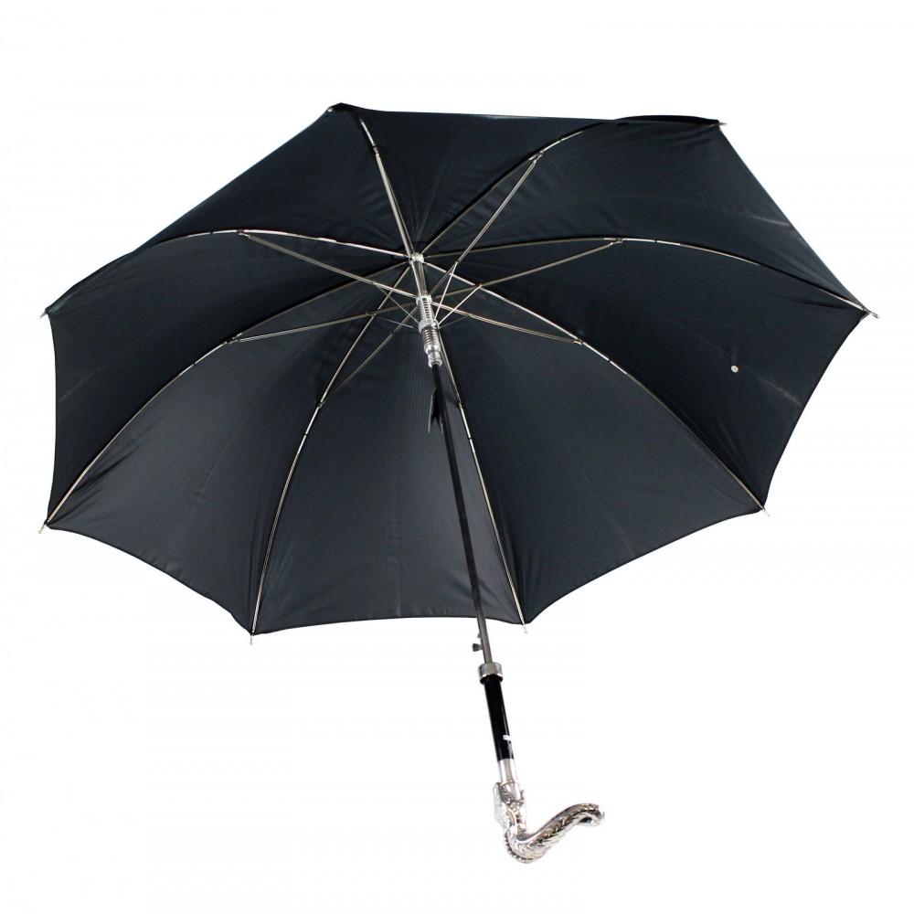 Зонт мужской двойной «Змея», Silver