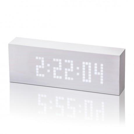 Смарт-будильник Gingko с термометром  Click Clock, белый