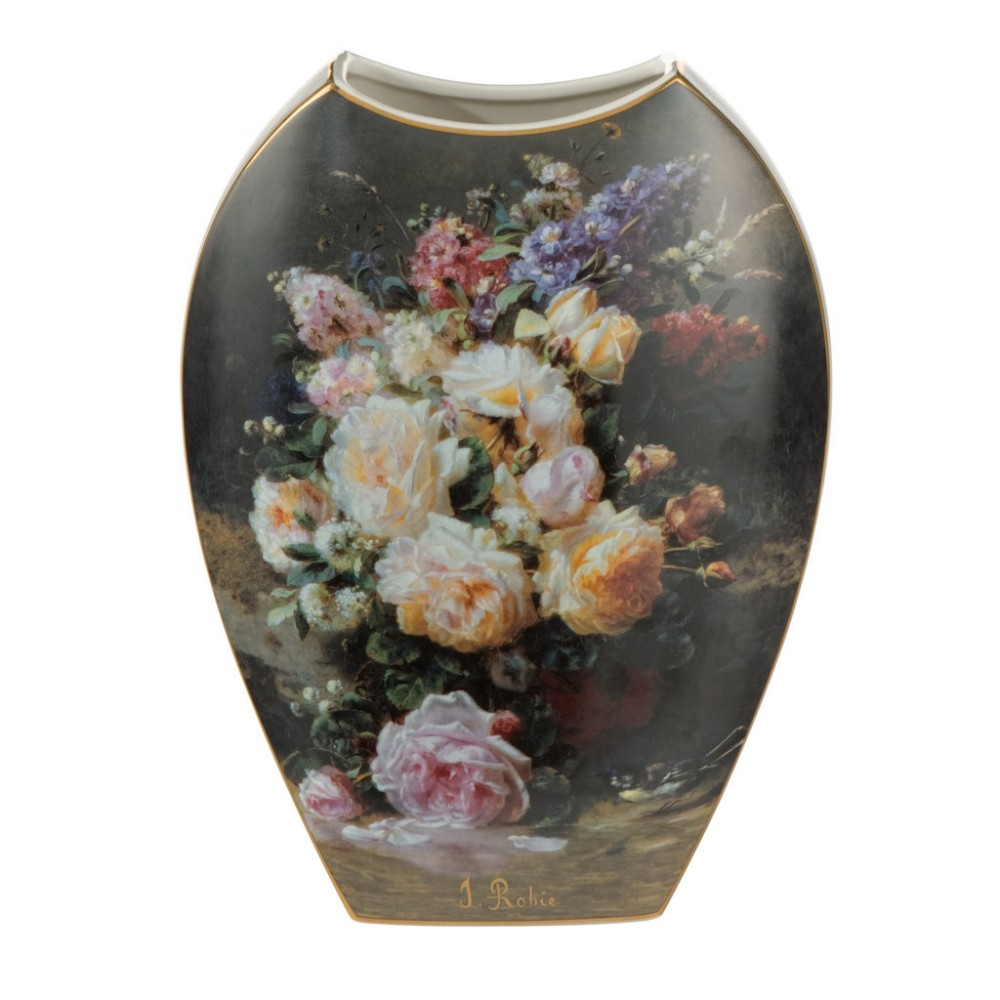 Ваза Goebel «Натюрморт с розами» Жан Батист Роби, 30 см
