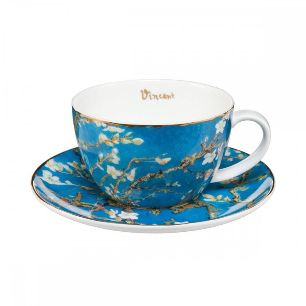 Чашка с блюдцем Goebel «Миндальное дерево» Винсент ван Гог 250 мл