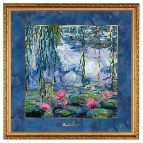 Картина Goebel «Кувшинки с ивой» Клод Моне, 68 х 68 см