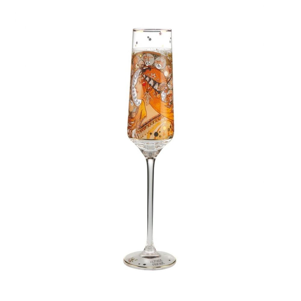 Бокал для шампанского Goebel «Зодиак» Альфонс Муха; 200 мл