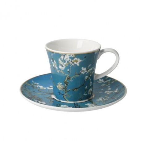 Чашка с блюдцем Goebel «Миндальное дерево» Винсент ван Гог; 350 мл