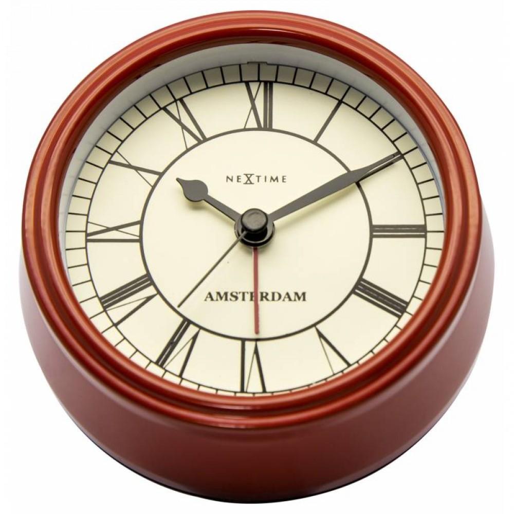 """Часы настольные """"Small Amsterdam Red"""" ø11 см"""