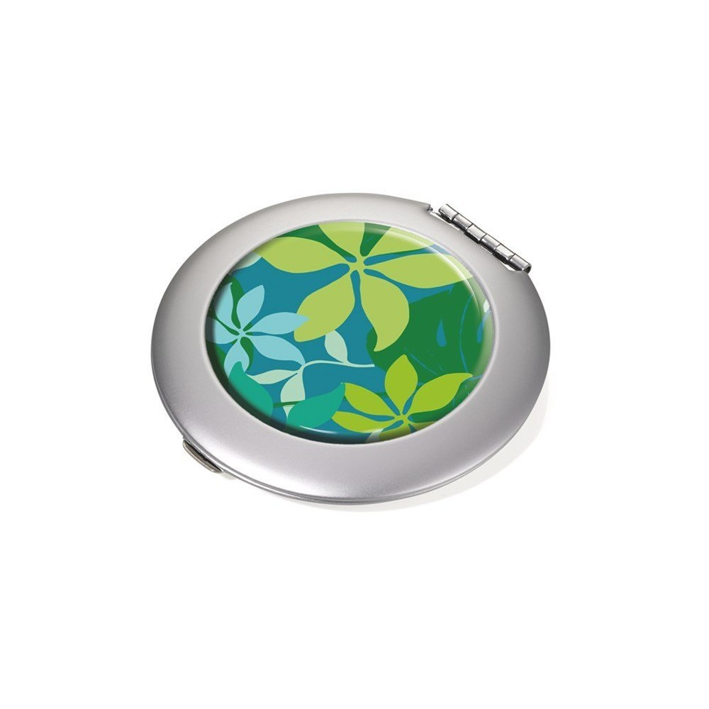 Зеркало карманное Troika Green Jungle
