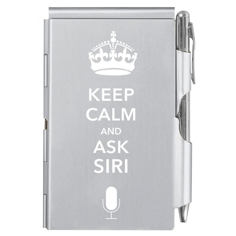 Карманный блокнот с ручкой Troika Keep Calm and ask Siri