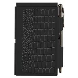 Карманный блокнот с ручкой Troika Black Croc