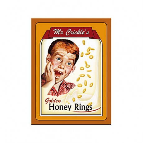 Магнит 8x6 см Mr Crickle's - Honey Rings Nostalgic Art (14193)