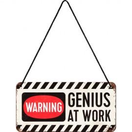 Табличка навесная со шнуркомGenius at Work