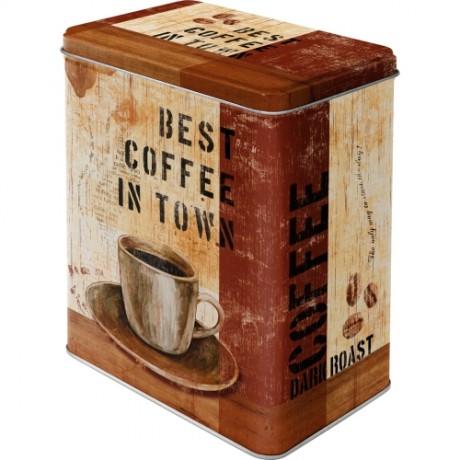 Коробка для хранения  L Best Coffee in Town Nostalgic Art (30110)