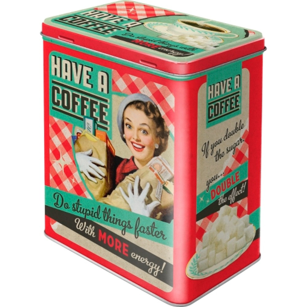 Коробка для хранения  L Say it 50's - Have A Coffee Nostalgic Art (30123)