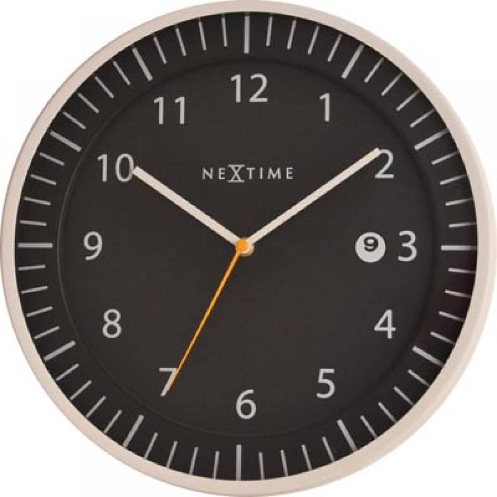 """Часы настенные """"Прыткий"""", черные Ø35 см"""