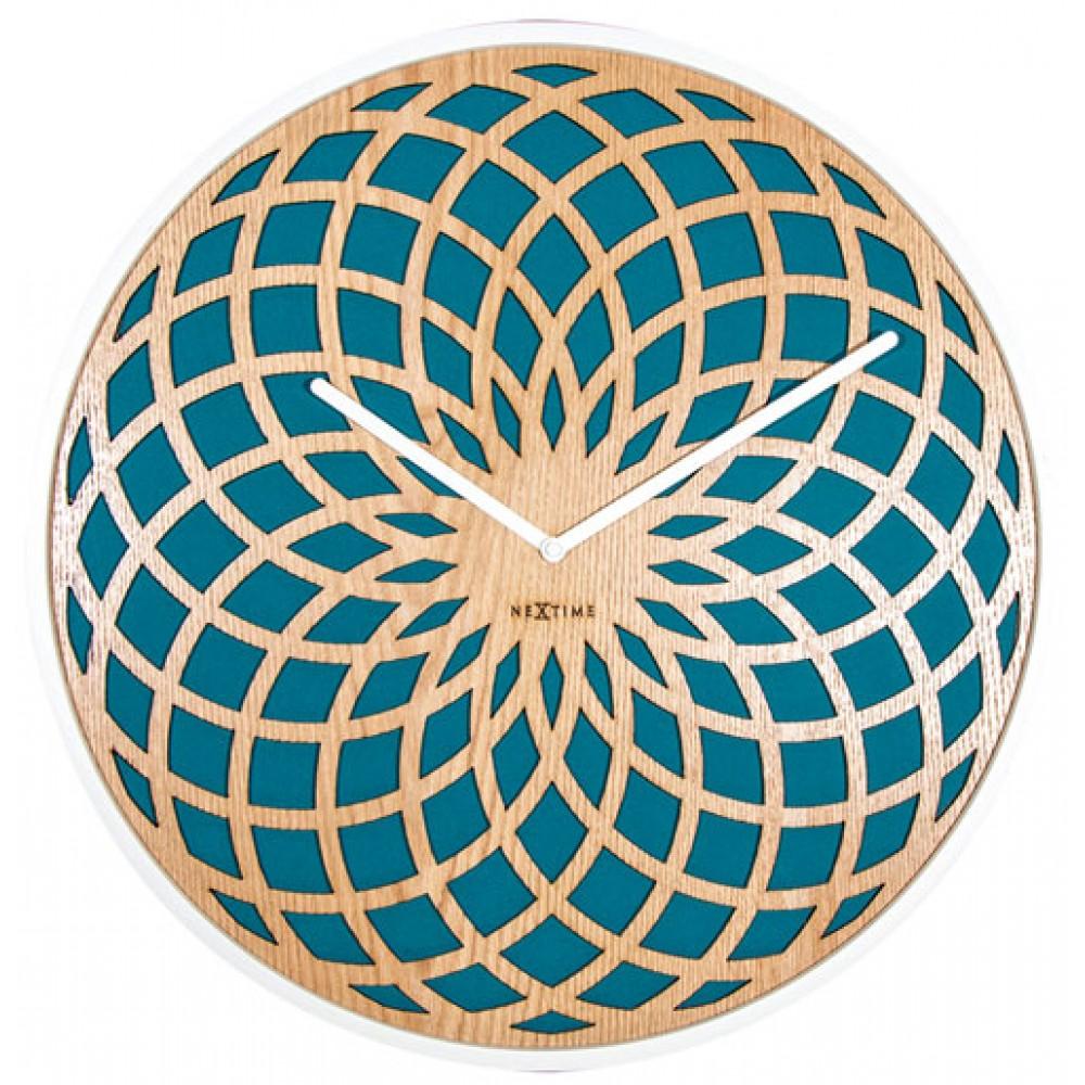 """Часы настенные """"Sun Small Turquoise"""" Ø35 см"""