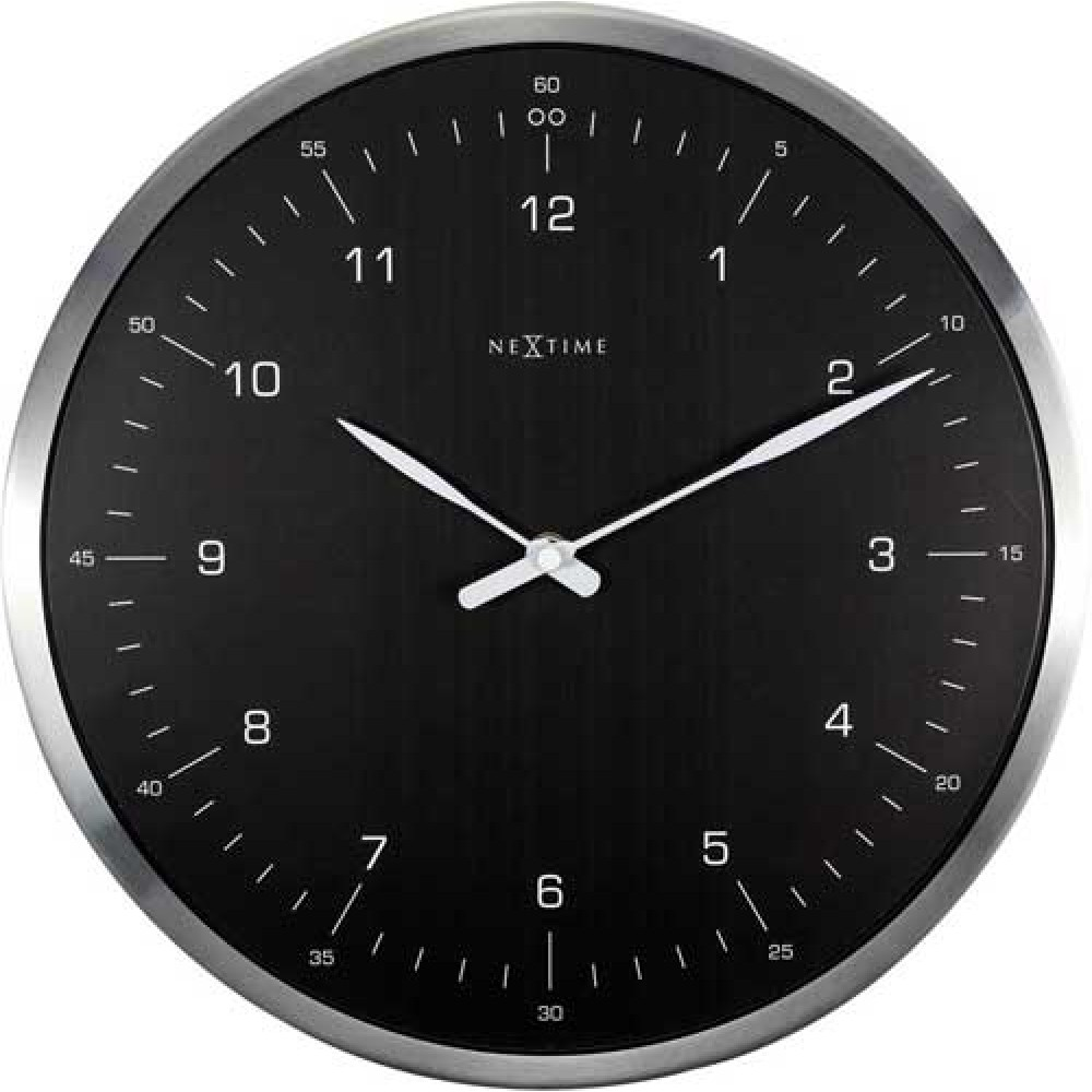 """Часы настенные """"60 Minutes"""", черные Ø33 см"""