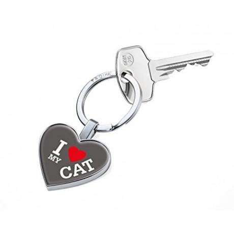 Брелок для ключей Troika I Love My Cat