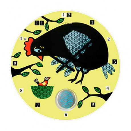 """Часы настенные """"Курочка-несушка"""" Ø43 см"""