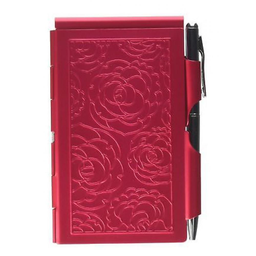 Карманный блокнот с ручкой Troika Peacock