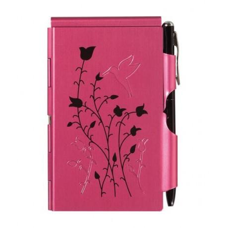 Карманный блокнот с ручкой Troika Paspberry Hummingbird