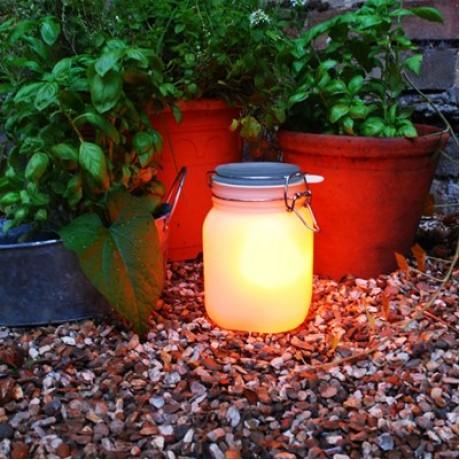 Ночник Suck Uk Фея в баночке, желтый, на солнечных батарейках