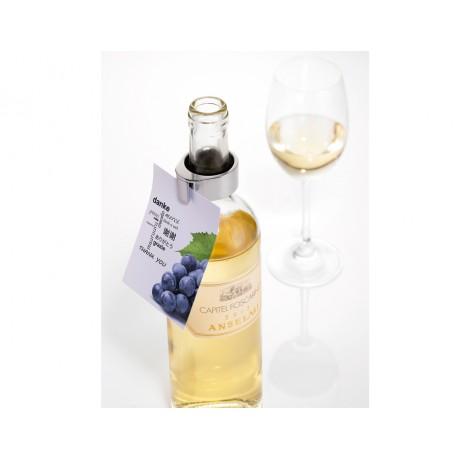 Аксессуар для винной бутылки Troika For party (кольцо + держатель для карточек)