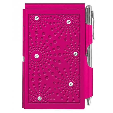 Карманный блокнот с ручкой Troika Glitz Pink