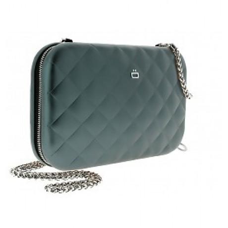 Клатч на молнии OGON  Quilted ledy bag, платиновый