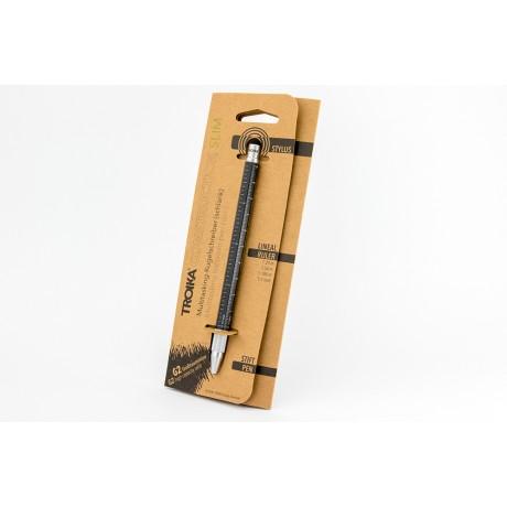 Мини-ручка Troika Construction, черная