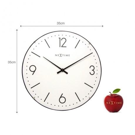 """Часы настенные """"Basic Dome"""" белые Ø35 см"""