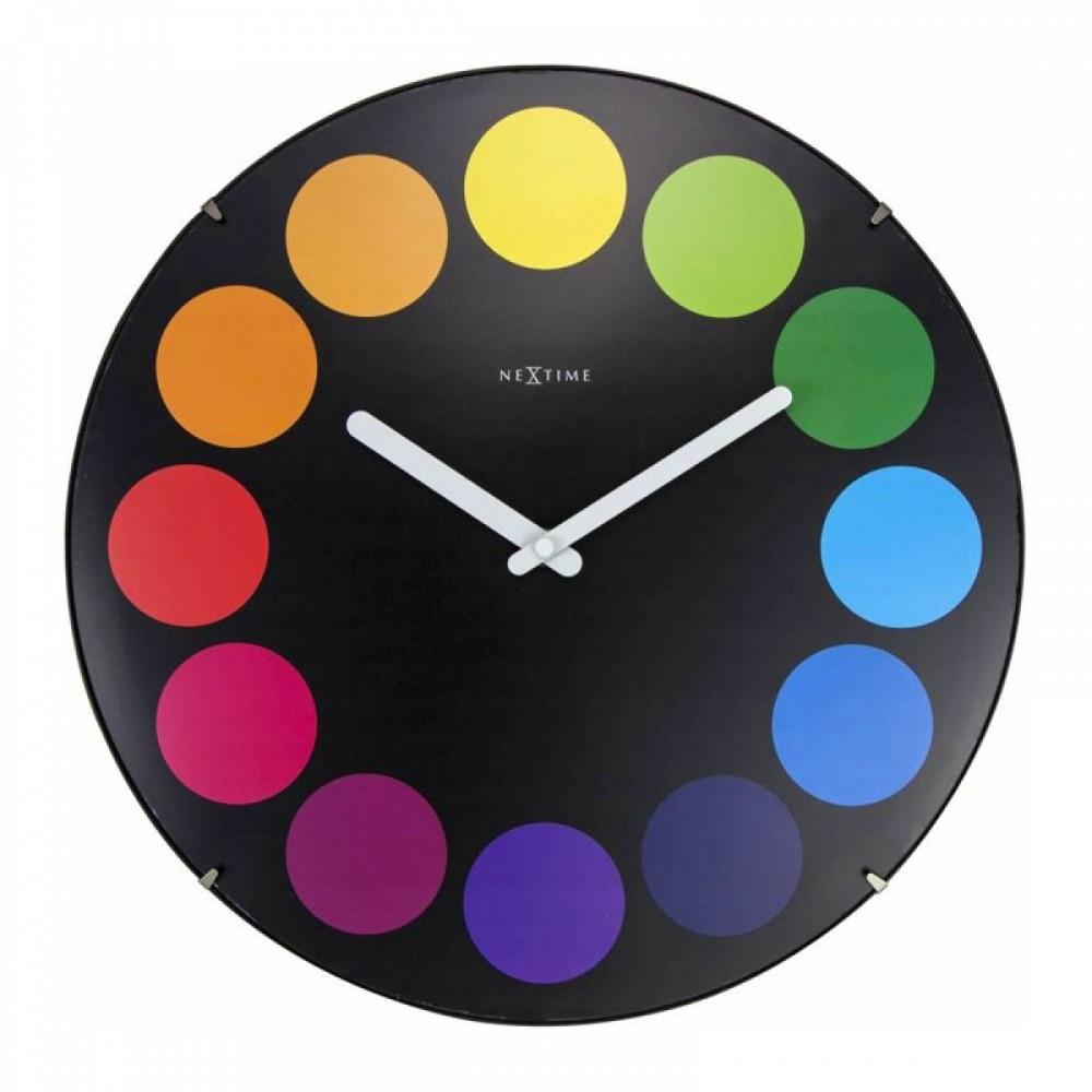 """Часы настенные """"Dots Dome"""", черные Ø35 см"""