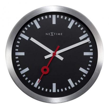 """Часы настенные """"Station"""", черные Ø19 см"""