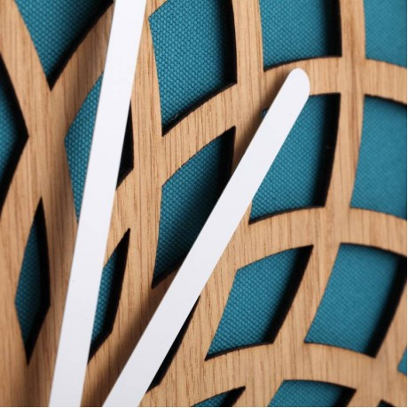 """Часы настенные """"Sun Large Turquoise"""" Ø50 см"""