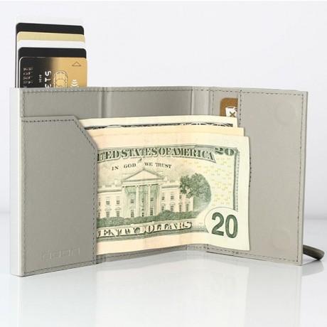 Бумажник на молнии OGON, светло-серый
