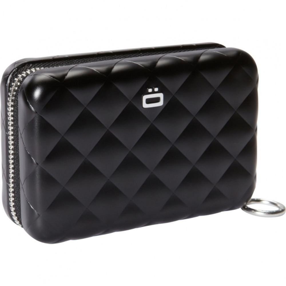 Бумажник на молнии OGON Quilted zipper, черный
