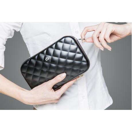 Клатч на молнии OGON Quilted ledy bag, черный