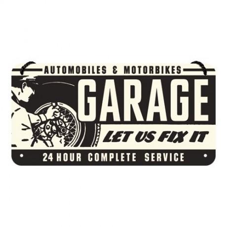 Вывеска на шнурке Sing Garage Nostalgic Art (28011)