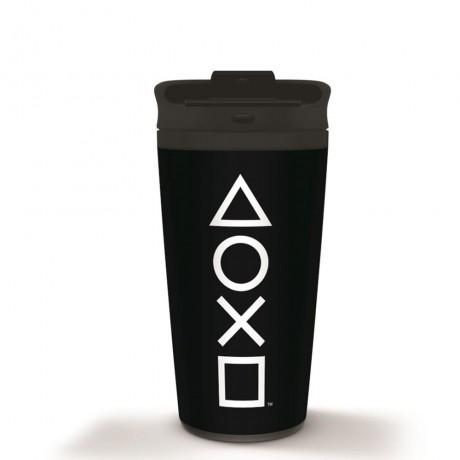 """Металлическая кружка для путешествий """"Playstation (Onyx), 450 мл"""