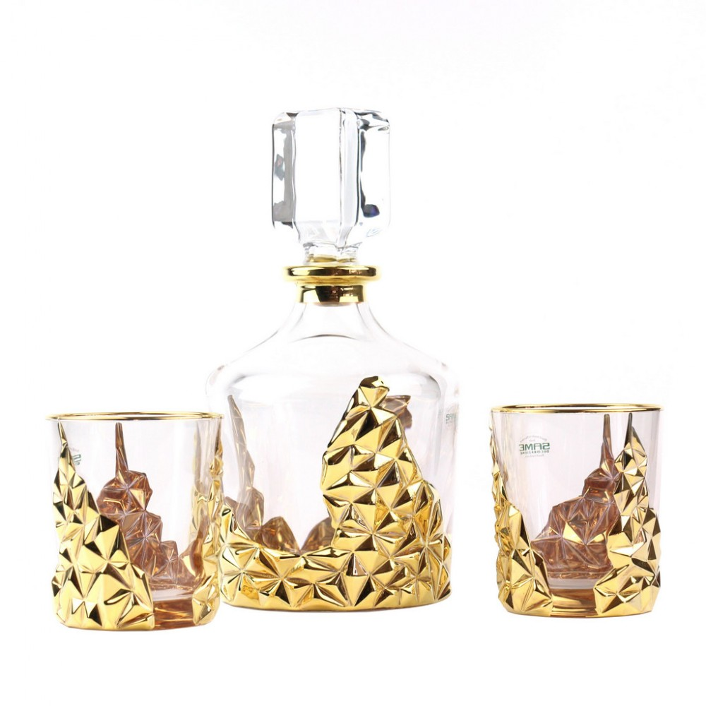 Набор для виски Same Rest (1 графин, 2 стакана), золото
