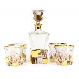 Набор для виски Same (1 графин, 4 стакана), золото