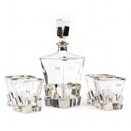 Набор для виски Same (1 графин, 4 стакана), платин..