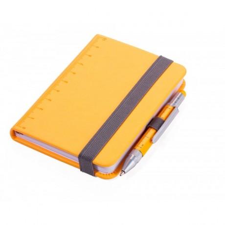 Блокнот Troika Din A7 Lilipad + ручка Liliput, желтый