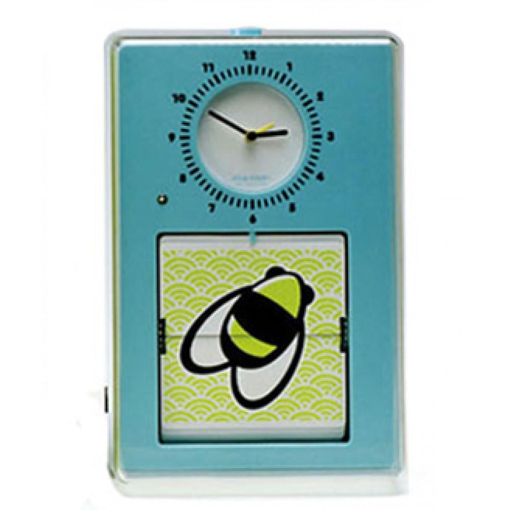 """Часы настенные """"Flip"""", голубые 15х23 см"""