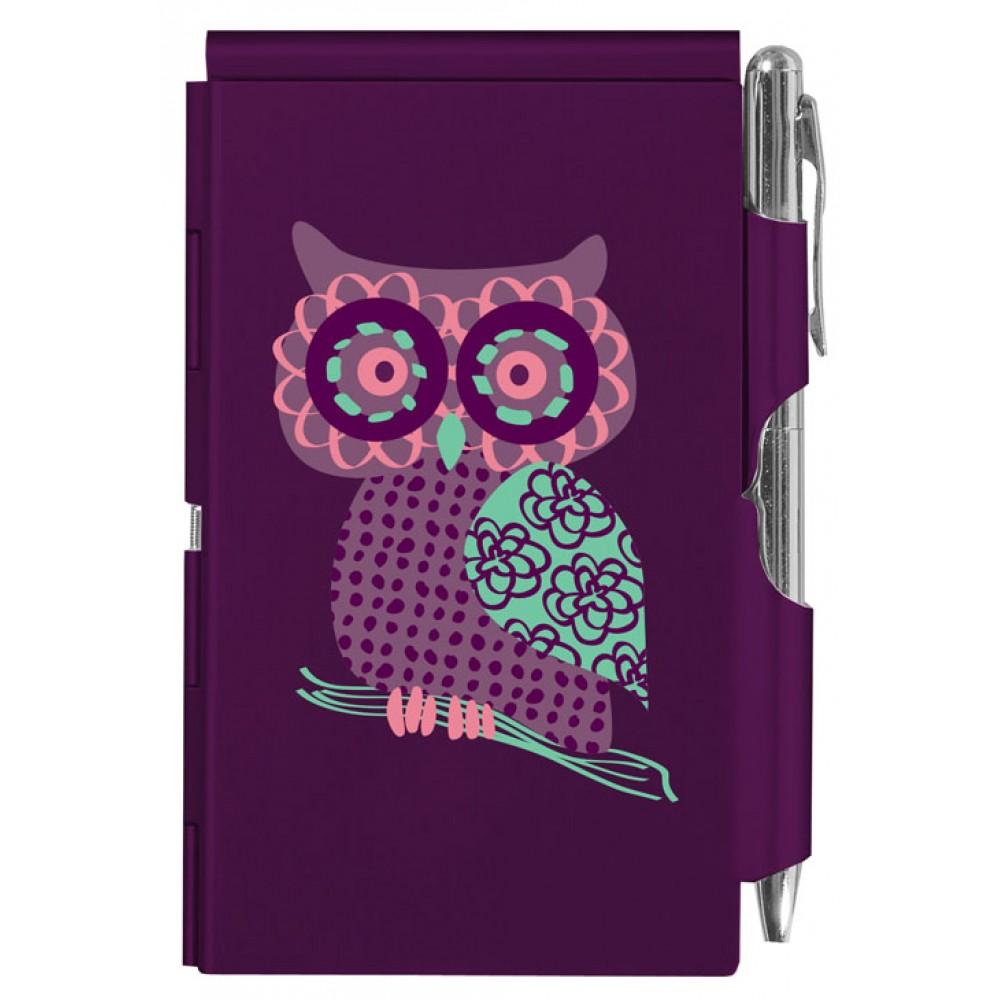 Карманный блокнот с ручкой Troika Owl