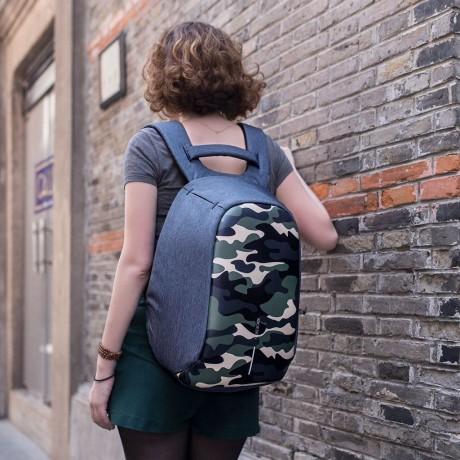 """Рюкзак антивор городской XD Design Bobby Compact 14"""", Camouflage Green (P705.657)"""